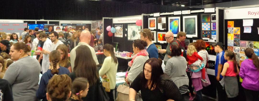 Quantum Conversations -Art of Fluorescence at RACI stand for Science Alive 2015, Adelaide